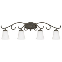 Everleigh 4 Light 39 inch French Greige Vanity Wall Light