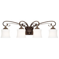 Kingsley 4 Light 32 inch Dark Spice Vanity Wall Light