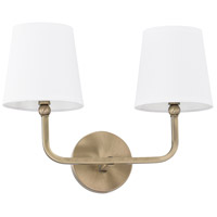Dawson 2 Light 16 inch Aged Brass Vanity Wall Light
