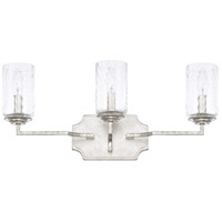 Oxford 3 Light 22 inch Silver Patina Vanity Wall Light