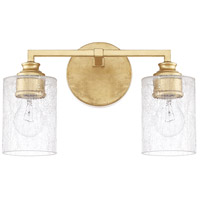 Milan 2 Light 13 inch Capital Gold Vanity Wall Light