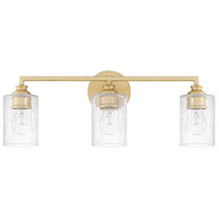 Milan 3 Light 23 inch Capital Gold Vanity Wall Light