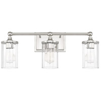 Camden 3 Light 24 inch Polished Nickel Sconce Wall Light