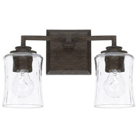 Porter 2 Light 14 inch Renaissance Brown Vanity Wall Light