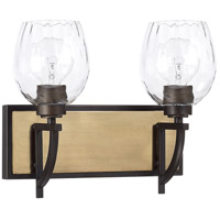 Capital Lighting 121321AO-427 Cole 2 Light 15 inch Aged Brass and Old Bronze Vanity Wall Light