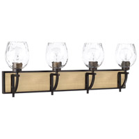 Capital Lighting 121341AO-427 Cole 4 Light 33 inch Aged Brass and Old Bronze Vanity Wall Light