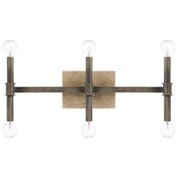 Gavin 6 Light 22 inch Iron and Gold Vanity Wall Light