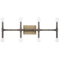 Gavin 8 Light 30 inch Iron and Gold Vanity Wall Light