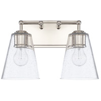 Capital Lighting 121721PN-463 Signature 2 Light 15 inch Polished Nickel Bath Vanity Wall Light