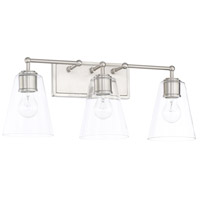 Signature 3 Light 24 inch Brushed Nickel Vanity Wall Light