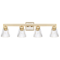 Capital Lighting 123041CG-436 Abella 4 Light 34 inch Capital Gold Bath Vanity Wall Light