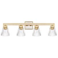 Capital Lighting 123041CG-436 Abella 4 Light 34 inch Capital Gold Bath Vanity Wall Light