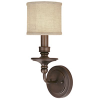 Capital Lighting Midtown 1 Light Sconce in Burnished Bronze 1231BB-450
