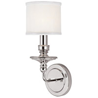 Capital Lighting Midtown 1 Light Sconce in Polished Nickel 1231PN-451