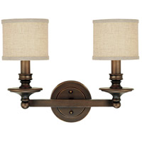 Midtown 2 Light 18 inch Burnished Bronze Vanity Wall Light