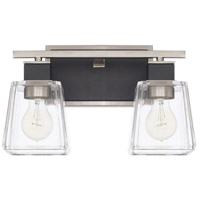 Capital Lighting 125221BT-445 Tux 2 Light 14 inch Black Tie Bath Vanity Wall Light