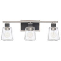 Capital Lighting 125231BT-445 Tux 3 Light 23 inch Black Tie Bath Vanity Wall Light