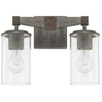 Capital Lighting 125921UG-435 Zac 2 Light 14 inch Urban Grey Bath Vanity Wall Light