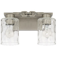 Capital Lighting 127921AN-455 Wallace 2 Light 13 inch Antique Nickel Bath Vanity Wall Light