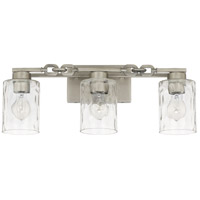 Capital Lighting 127931AN-455 Wallace 3 Light 23 inch Antique Nickel Bath Vanity Wall Light
