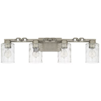 Capital Lighting 127941AN-455 Wallace 4 Light 32 inch Antique Nickel Bath Vanity Wall Light