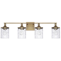Colton 4 Light 34 inch Aged Brass Bath Vanity Wall Light, HomePlace