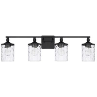 Colton 4 Light 34 inch Matte Black Bath Vanity Wall Light, HomePlace