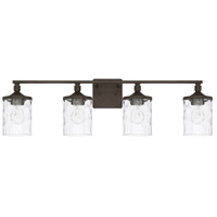 Collier 4 Light 34 inch Urban Brown Bath Vanity Wall Light, HomePlace