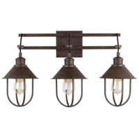Capital Lighting 130831MI Pawley 3 Light 24 inch Mineral Brown Vanity Wall Light