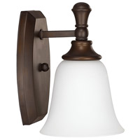Belmont 1 Light 6 inch Burnished Bronze Sconce Wall Light in Soft White Glass