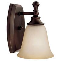 Capital Lighting 1331BB-287 Belmont 1 Light 6 inch Burnished Bronze Sconce Wall Light in Mist Scavo Glass