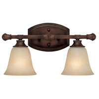 Capital Lighting Belmont 2 Light Vanity in Burnished Bronze with Mist Scavo Glass 1332BB-287