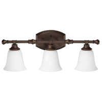 Belmont 3 Light 25 inch Burnished Bronze Vanity Light Wall Light