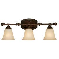 Capital Lighting Belmont 3 Light Vanity in Burnished Bronze with Mist Scavo Glass 1333BB-287