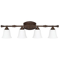 Belmont 4 Light 34 inch Burnished Bronze Vanity Light Wall Light