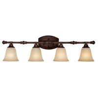 Capital Lighting Belmont 4 Light Vanity in Burnished Bronze with Mist Scavo Glass 1334BB-287
