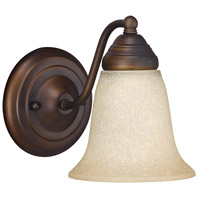 Capital Lighting Signature 1 Light Vanity in Burnished Bronze with Mist Scavo Glass 1361BB-297