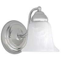 Capital Lighting Signature 1 Light Sconce in Chrome with Faux White Alabaster Glass 1361CH-117