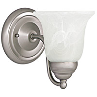 Capital Lighting Signature 1 Light Sconce in Matte Nickel with Faux White Alabaster Glass 1361MN-117