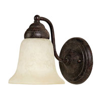 Capital Lighting Signature 1 Light Sconce in Tortoise with Rust Scavo Glass 1361TS-246