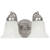 Capital Lighting Signature 2 Light Vanity in Matte Nickel with Faux White Alabaster Glass 1362MN-117