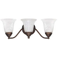 Capital Lighting Signature 3 Light Vanity in Burnished Bronze with White Faux Alabaster Glass 1363BB-117