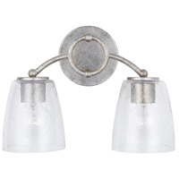Capital Lighting 137921AS-488 Oran 2 Light 15 inch Antique Silver Vanity Wall Light