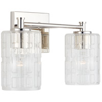 Capital Lighting 138321PN-491 Independent 2 Light 15 inch Polished Nickel Vanity Wall Light