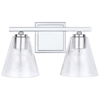 Capital Lighting 138323CH-493 Independent 2 Light 15 inch Chrome Vanity Wall Light