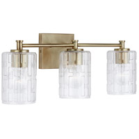 Capital Lighting 138331AD-491 Independent 3 Light 23 inch Aged Brass Vanity Wall Light