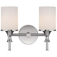 Capital Lighting Studio 2 Light Vanity in Polished Nickel with Soft White Glass 1397PN-105