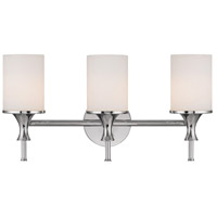 Capital Lighting Studio 3 Light Vanity in Polished Nickel with Soft White Glass 1398PN-105