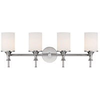 Capital Lighting Studio 4 Light Vanity in Polished Nickel with Soft White Glass 1399PN-105