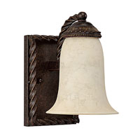 Capital Lighting Highlands 1 Light Vanity in Weather Brown with Rust Scavo Glass 1511WB-269